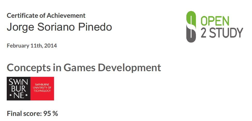 Concepts in Game Development